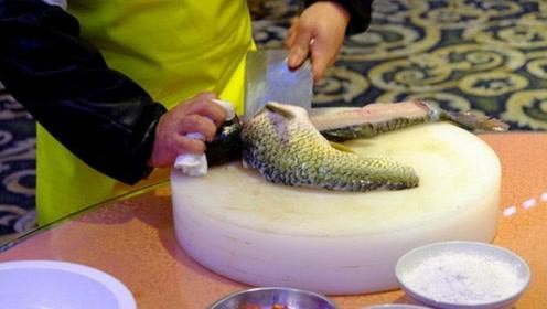 国家一级厨师厨艺有多恐怖?杀鱼去骨只要26秒,看完一脸惊愕