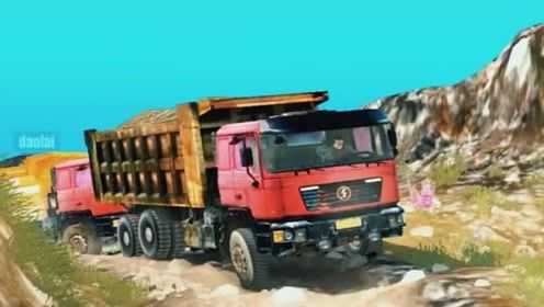 模拟驾驶:模拟驾驶开重卡上山,太考验车技了,货车司机不容易