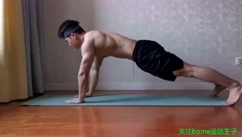 肌肉帅哥带你在家做这4个练习,锻炼核心肌肉群,燃烧你的卡路里