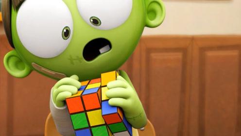 死神老师让学生解开魔方,怪力士却一口吞下,结果大家都惊呆了!
