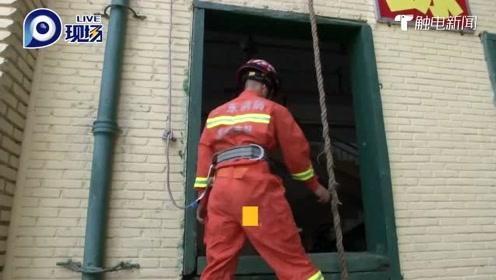 你们训练的时候真帅!消防员秀才艺,这绝活厉害了