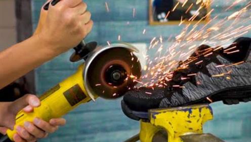安全鞋到底有多安全,老外对其进行测试,网友:名不虚传