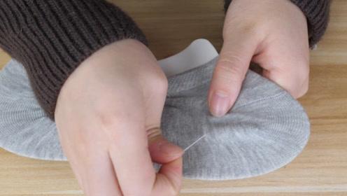 今天才知道,新袜子连接线有个小机关,不用拽一拉就拆开,真方便