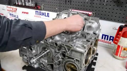 800马力水平对置4缸斯巴鲁拳击手发动机拆解视频1