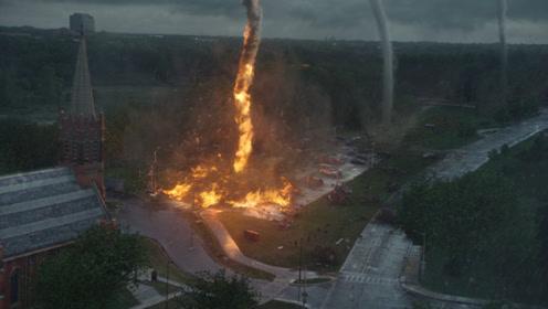 一部特效超燃的灾难片,堪称龙卷风摧毁停车场,飞机客车满天飞