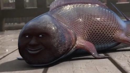 湖里出现一条奇特的鱼儿,长着一副人脸,网友:这是成精了吗?