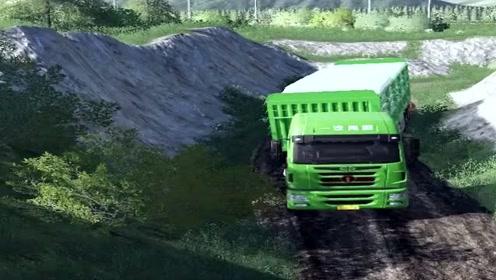 模拟驾驶:驾驶大货车送货,场景太真实了,货车司机不容易!