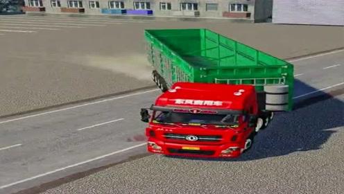 模拟驾驶:驾驶大货车上马路,场景太逼真,视野开阔就是爽!