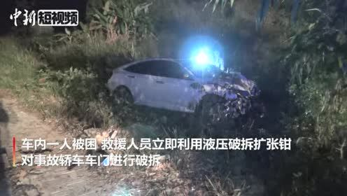 广西德保车祸致1人身亡发动机与车体分离飞落15米