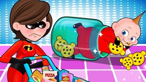 超市美食奇遇记,贪吃鬼小瓜碰到最爱的饼干,为了吃到他真是费尽心思!