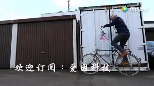 牛人大胆改造自行车,骑上去难,下来更难,路人看傻眼了