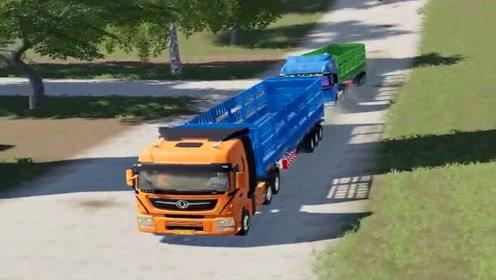 模拟驾驶:大货车跑长途,路线设计太逼真,货车司机挣钱不容易!