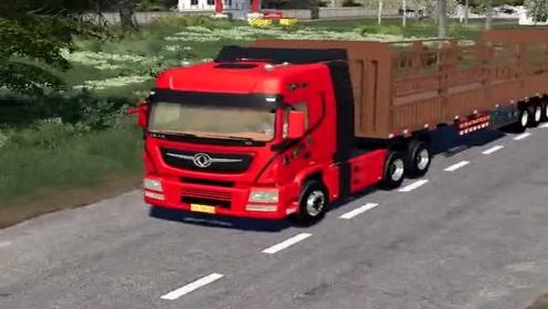 模拟驾驶:大货车跑长途,太有挑战性了,货车司机不容易!