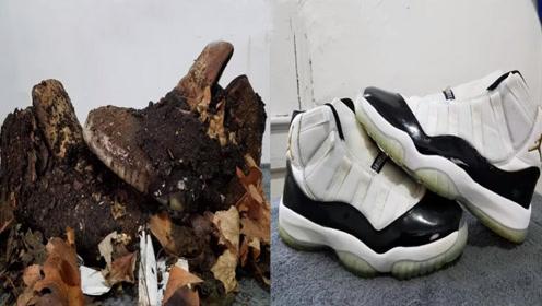 男子垃圾堆捡到一双球鞋,翻新后太惊艳,转手卖了5000块!