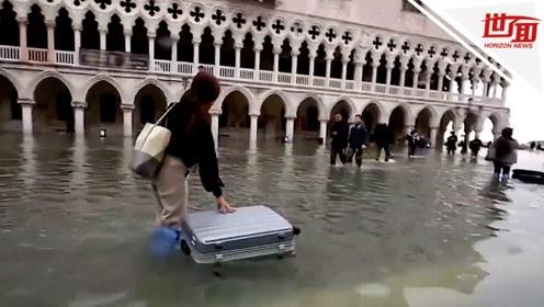 威尼斯水城进入紧急状态:2人死亡 超80%地区被淹
