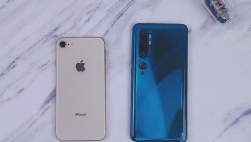 iPhone 8对比小米CC9Pro,到手一比,有点后悔了!