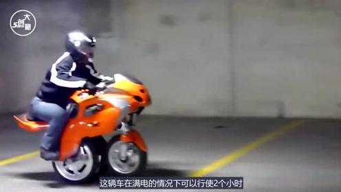 """男子发明""""变形""""摩托车,两个轮子变一个轮子,美国想高价买断专利"""