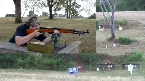 造型让人皱眉的阿尔巴尼亚SKS步枪,实弹射击