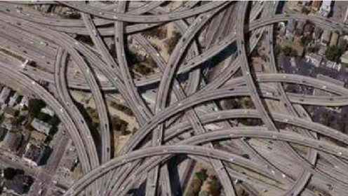 中国最逆天的立交桥,远看像一团毛线绕在一起,导航都快要哭了