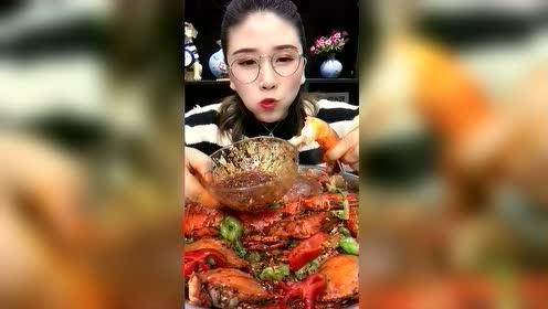 海鲜吃播:老虎虾