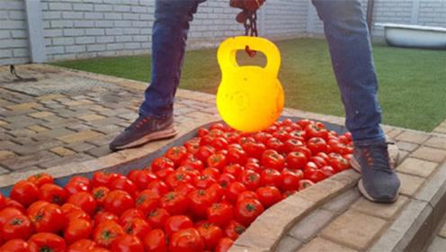 将1000度壶铃丢进西红柿中会发生啥?老外亲测,吃货表示心疼