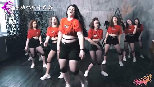 第一次看180斤的姑娘跳街舞,网友:地都能让她踏出个洞