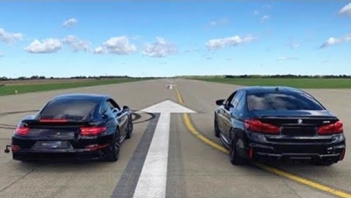 100万宝马M5单挑200万保时捷911,起步瞬间才知道差距有多大?