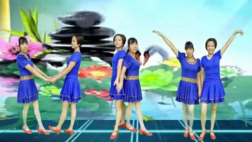 金社晓晓广场舞《妹妹的山丹花》16步初级动作一学就会