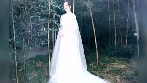 辣妈变仙女!刘诗诗穿白纱裙自带发光体质 竹林写真清雅迷人
