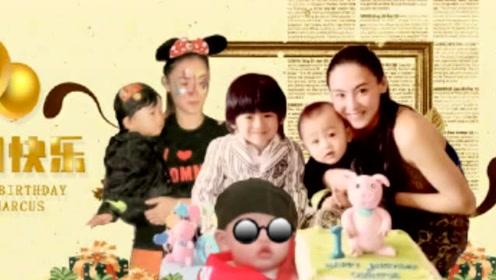 张柏芝为三胎儿子庆生,小王子惊喜出镜,胖嘟嘟的小脸蛋超级可爱