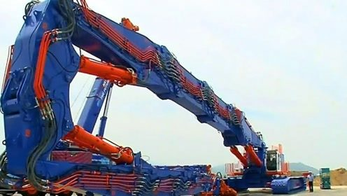 机器怪物!臂长80米的挖掘机,专拆摩天大楼