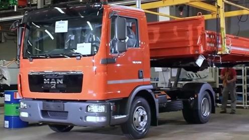 德国MAN卡车制造过程,这场面不多见,堪称世界级工厂