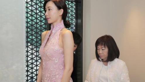林志玲中式结婚礼服设计稿曝光 粉色露背性感优雅