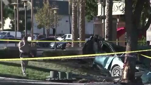 妈妈裸驾撞车起火后赤身逃跑 两女儿一死一伤