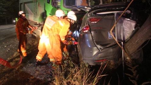信阳一渣土车和越野车迎面相撞一人不幸身亡