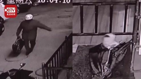 三岁男童被装行李袋遗弃路边 一男子发现后不救人 反将袋子拎到隔壁店外