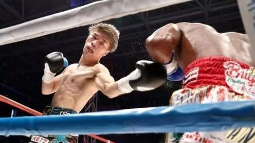 日本拳击超级猛将,擂台狂暴出击直接击溃对手!
