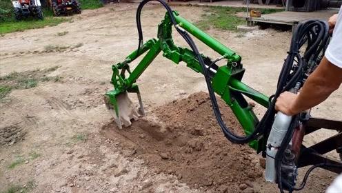 世界上最简易的挖掘机,农村小伙可以手工打造一辆