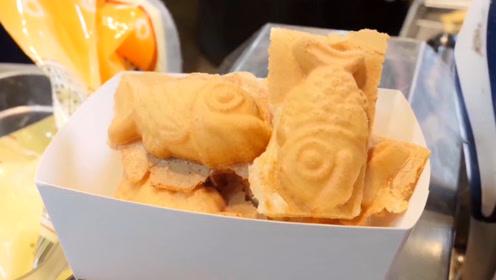 韩国街头出现迷你鱼饼,一个根本不够塞牙缝,吃上几十个都不怕撑