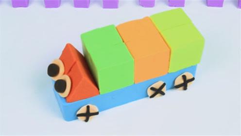创意手工DIY:七彩太空沙做个超可爱的小货车!
