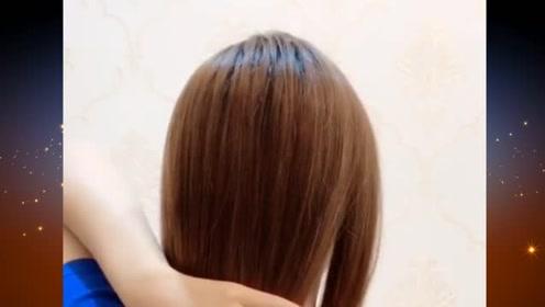 这样的扎发发型,简约优雅又显美丽大方,发量少的女生扎最美哦