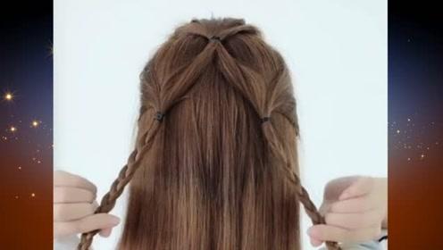 仙女范十足的一款扎发发型,简约优雅又好看百搭,你一定要学会哦