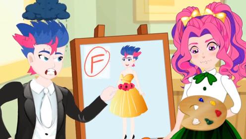 女孩参加美术测验,大家都沉迷老师的帅气,女孩却把他画成了女人!