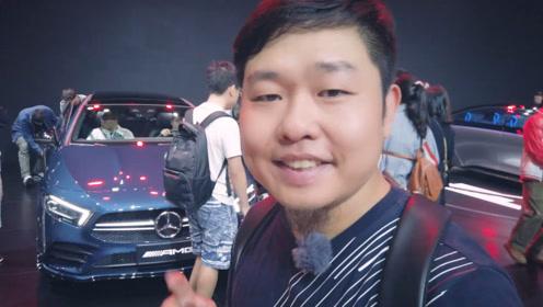 老司机带你逛广州车展奔驰展台,A35L来了!GLB真香!
