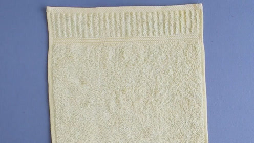 旧毛巾别扔,这样折一折,成品太棒了,很多人抢着要