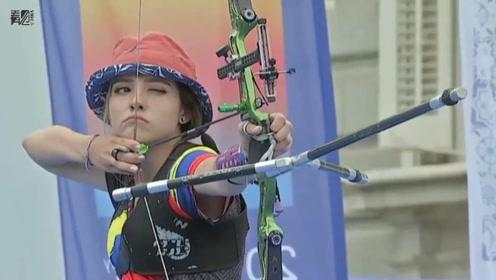 哥伦比亚美少女射箭冠军火了 颜值高吸粉无数