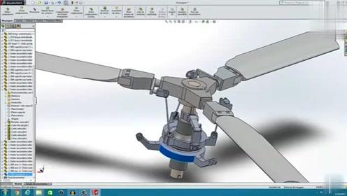 直升机机翼的机械结构,运行机制原来是这样的,长见识了!