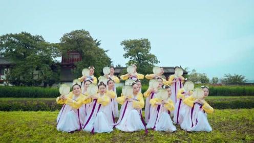 古典舞《胭脂妆》,穿上华服游览花海!