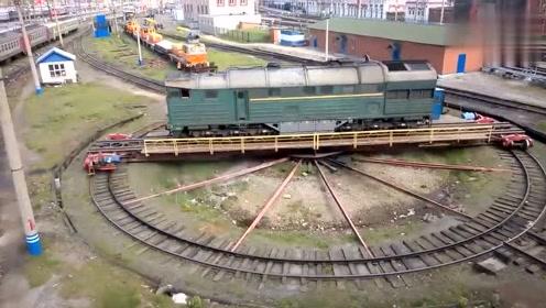原来火车是这样掉头的,真是解开了我多年的疑惑!