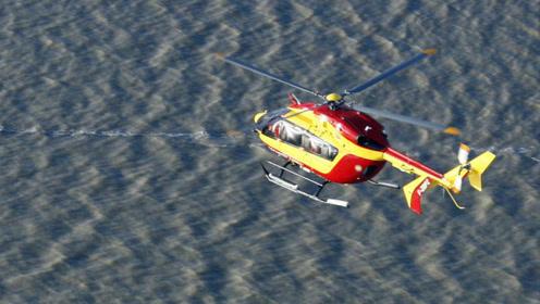 实拍极端洪水法国街道变大河 救援人员乘坐直升机坠入死亡